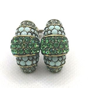 Heidi Daus Emerald Green Swarovski Earrings